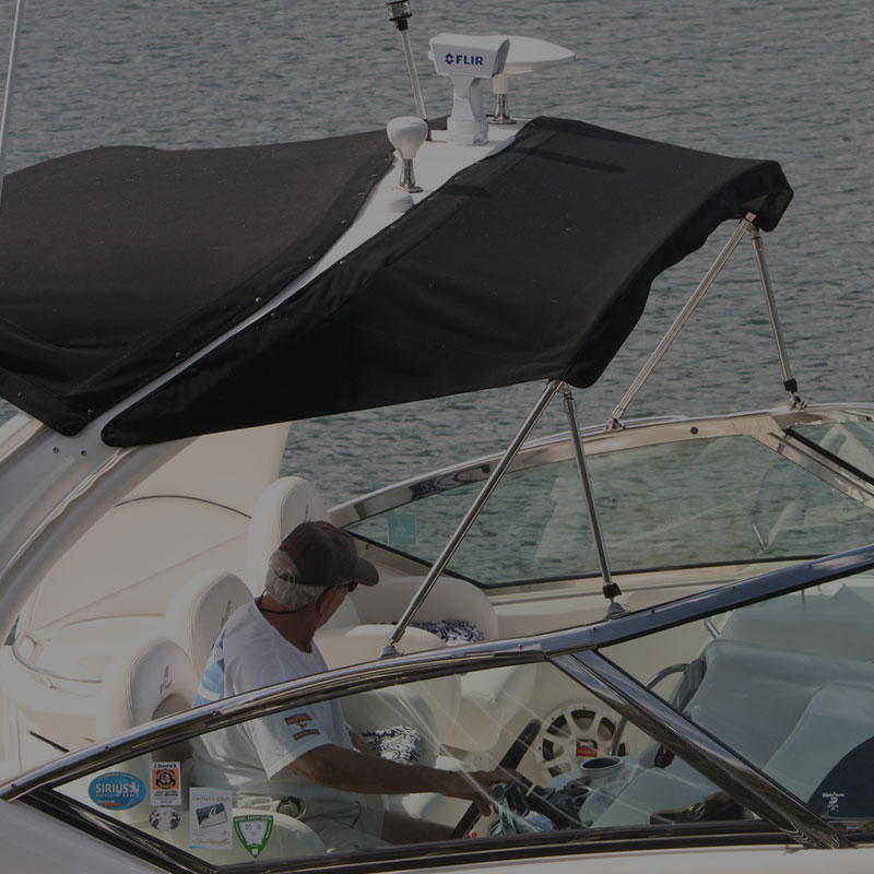 Bimini Tops, Cockpit Covers and Boat Enclosures by Great Lakes Boat Top